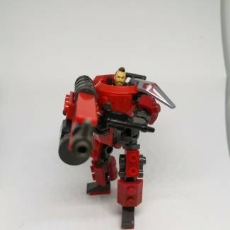 Image of: Red Power armor