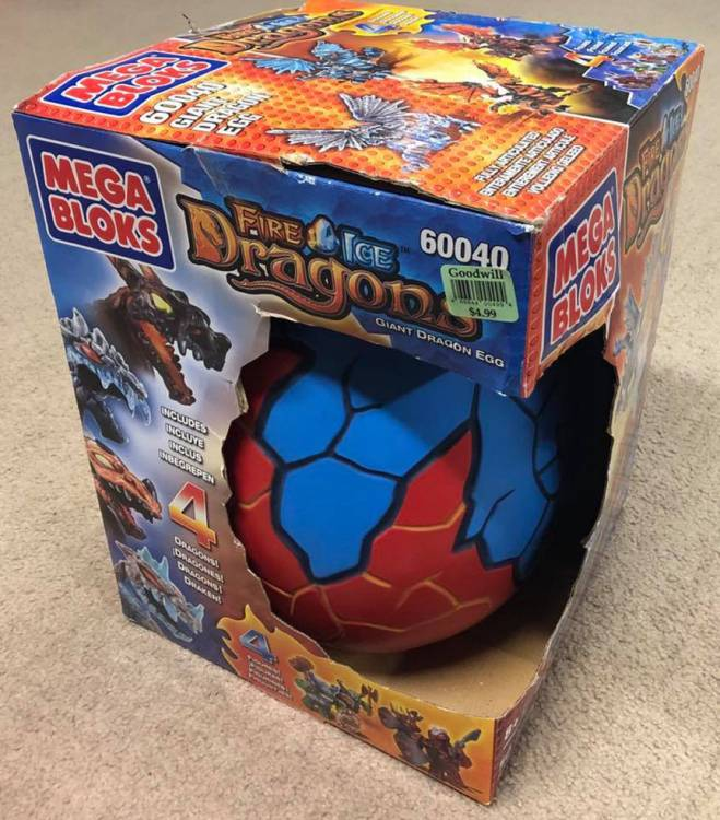 Vintage Giant Dragon's Egg