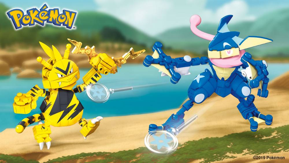 Build an epic battle with Greninja vs. Electabuzz!