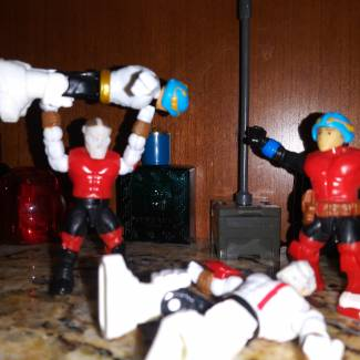 "Image of: ""Major Mega Bloks Wrasslin"""