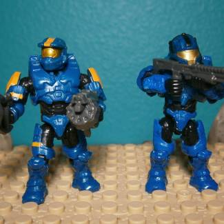 Image of: Custom Blue Halo 3 Spartans