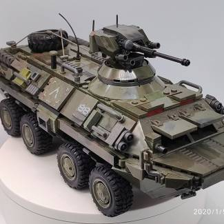 Image of: BTR-80 & Little green person