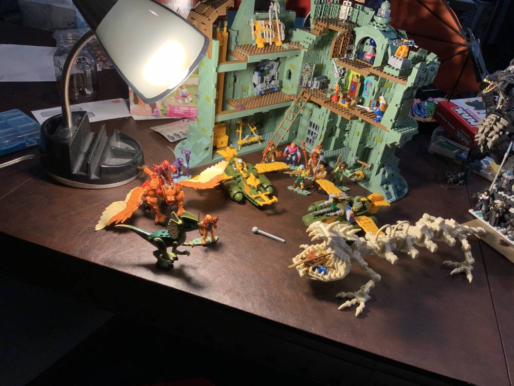 Most of my Mega Sets, I really wish mega construx was easier to find. I STILL need some MOTU Figures