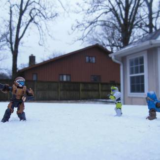 Image of: snow ball fight