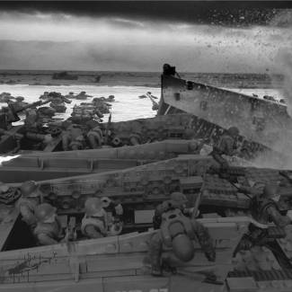 Image of: WWII Dedication - Normandy without rain Filter