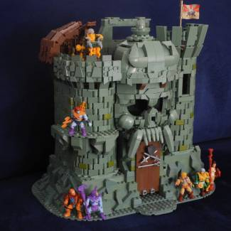Image of: Masters of the Universe - Castle Grayskull with custom weapons rack