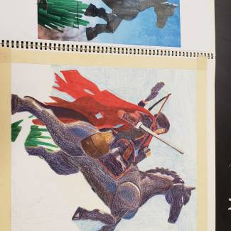 Image of: Drawing II Prismacolor colored pencil Project update