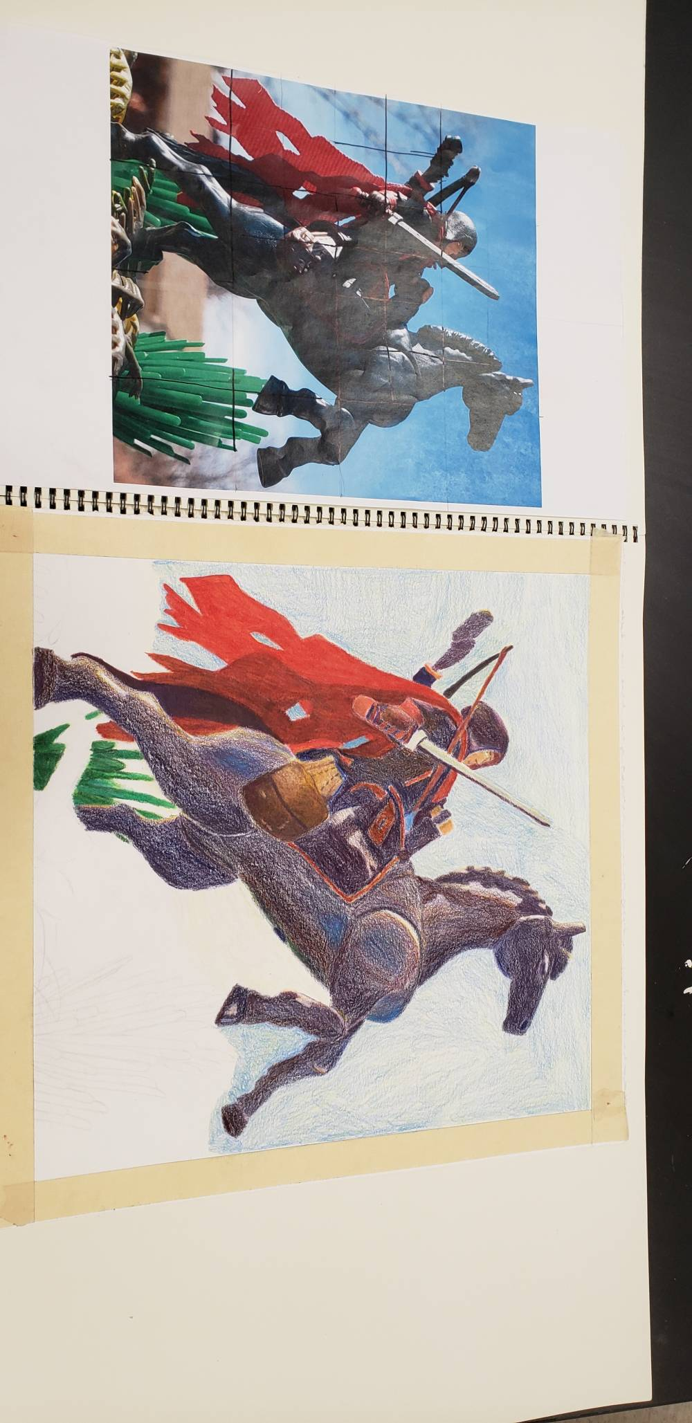 Drawing II Prismacolor colored pencil Project update
