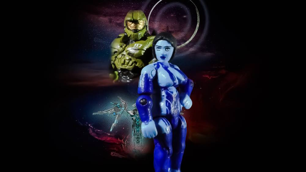 Image of: Halo máster chief and cortana