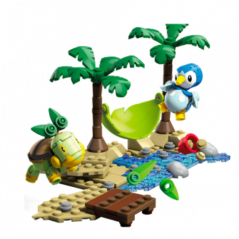 Image of Interactive Build Piplup vs. Turtwig
