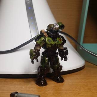 Image of: DOOM Slayer figure remake (sorta)