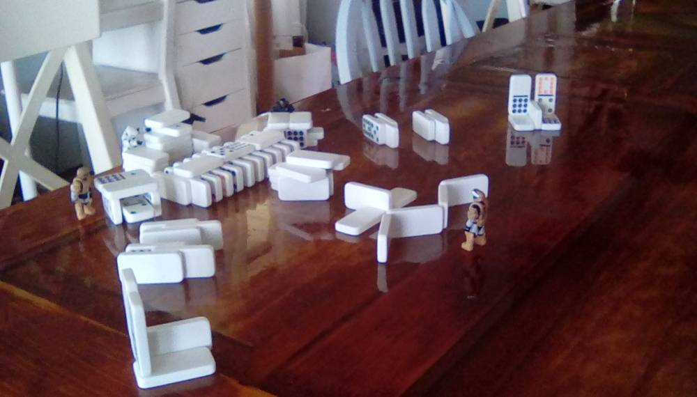 Image of: Fun with Dominos 2