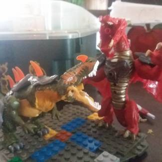 Image of: Dragon vs dinosaurs