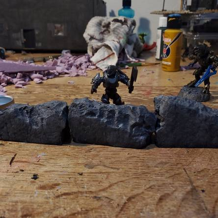 Easy Concrete Walls for D&D, Frostrgrave, or MCX
