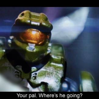 """Image of: Mega Construx remake: Halo 2A """"High Charity"""" opening cutscene"""