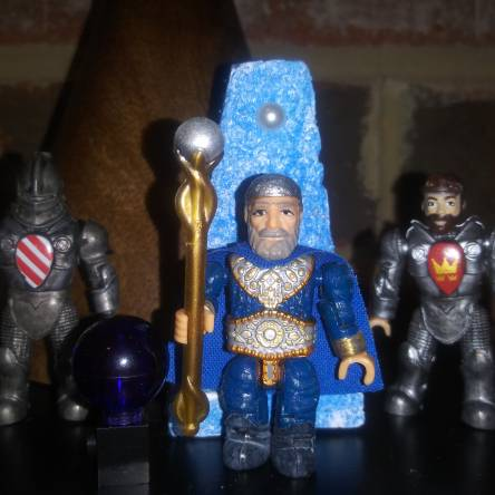 Mega Bloks King Arthur Merlin custom figure with throne