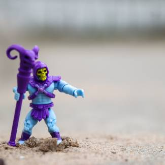 Image of: Mega Construx Masters of the Universe Series 1:  Skeletor