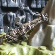 Painted machine gun