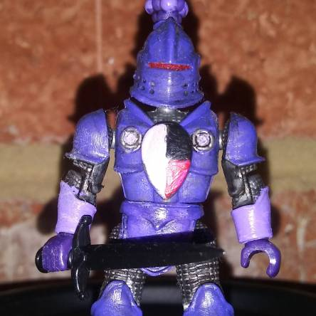Mega Bloks King Arthur Purple Knight custom