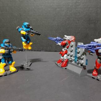 Image of: (RZ) review/preview halo Spartans VS Skirmish set
