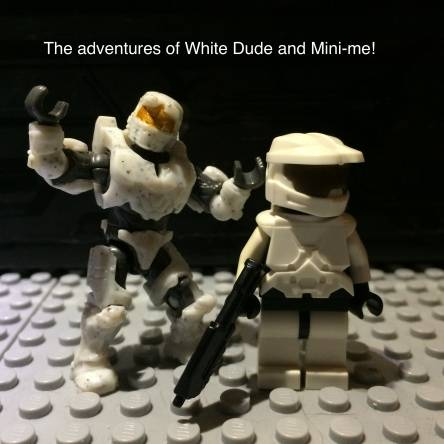 The adventures of White dude and Mini-me. Episode one.