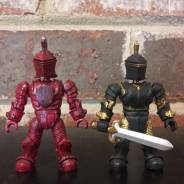 Mega Bloks Construx Black Knight & Red Knight custom figures