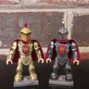Mega Bloks King Arthur Gold armor and custom helmet figure