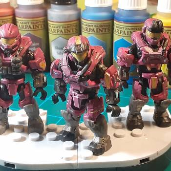 Pink and Gold Spartan Team