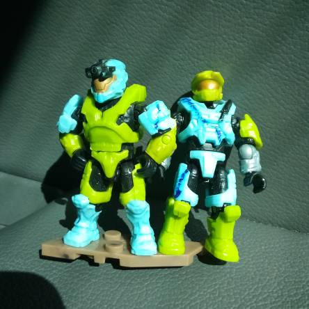 CUSTOM COLORS: baby blue and green