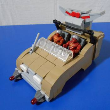 TMNT Flying Rock Soldier Jeep