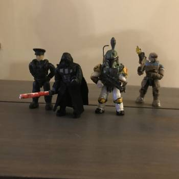Some Star Wars figs and my new darth Vader and an imperial officer