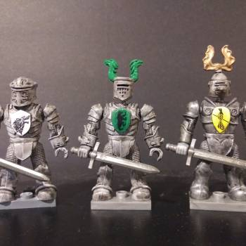 Mega Construx Knights with Game of Thrones emblems