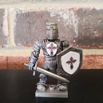 Mega Bloks Construx Rose Cross Knight custom figure
