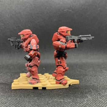 Red Team   my first custom Halo figures