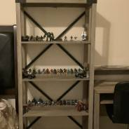 My entire collection including figures with broken/missing parts and my new display